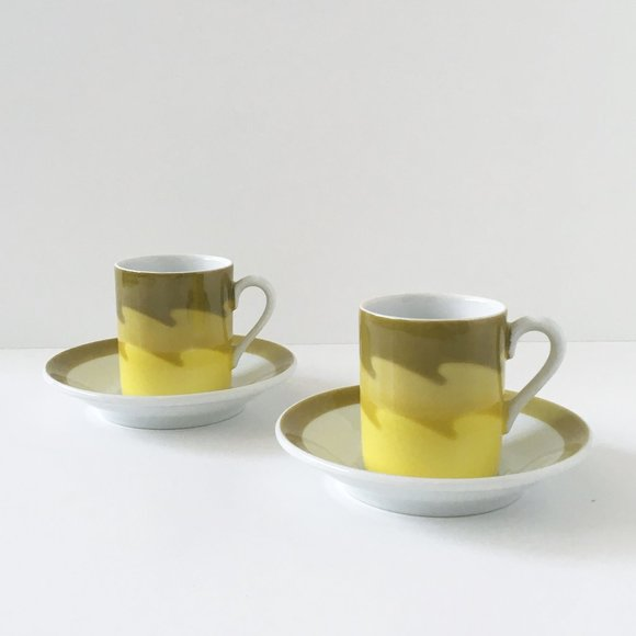 Mod Espresso Set Made in Japan Cup and Saucer